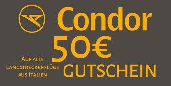 50 € Gutschein auf alle Langstreckenflüge aus Italien