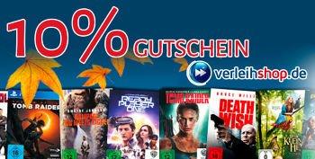 10% Verleihshop Neukundengutschein für Filme & Games