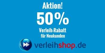 10% Verleihshop Gutschein + 50% Rabatt und Gratis Versand