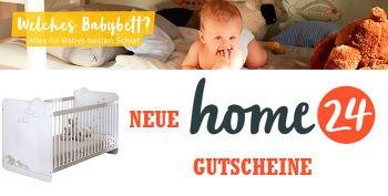 Bis zu 50,00 € Home24 Gutschein beim Kauf von Babybetten